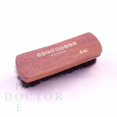 DM Horse Hair Shoe Brush Medium 6 Inch